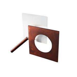 ICONE ICONE LED nástěnné světlo Petra 21.L, bílá, rezavá