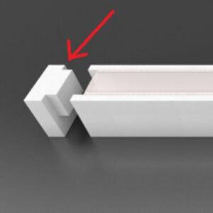 Koncovka A k liště LED linie 40 - ECO-DESIGN