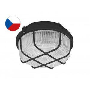 KRUH přisazené stropní a nástěnné kruhové svítidlo 100W černá, transp. PANLUX SKP-100/C