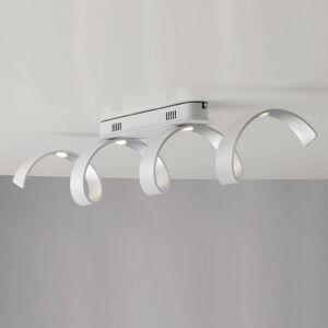 Eco-Light LED stropní svítidlo Helix bílá-stříbrná