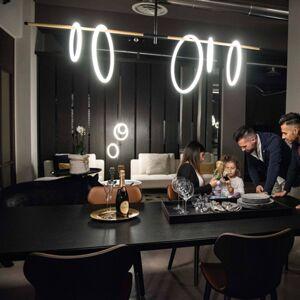 Marchetti LED závěsné světlo Ulaop, pět kruhů, černé