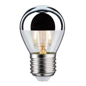 Paulmann LED žárovka zrcadlená E27 kapka 827 stříbrná 2,6W