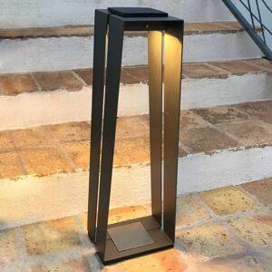 LES JARDINS LED solární lucerna Skaal, hliník, senzor, 70cm