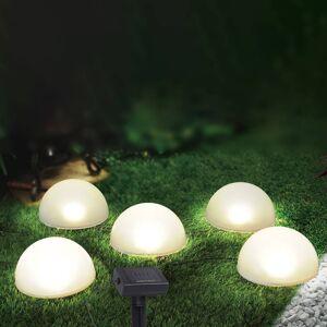 Globo LED solární světelný řetěz 33980, pět zdrojů, bílá