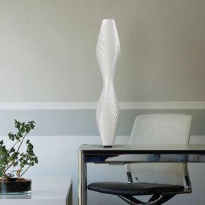 Tagwerk LED stojací lampa Flechtwerk Lava, 75cm, bílá