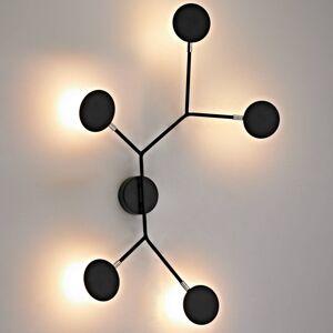 Wofi LED nástěnné světlo Belize, 5 zdroje, černá