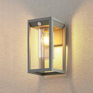 Lindby Lindby Estami nástěnné světlo senzor stříbrně šedá