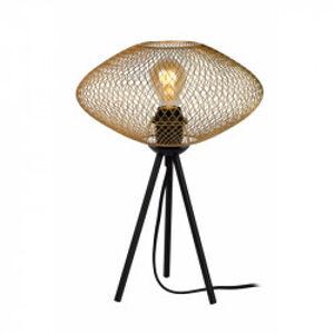 Lucide MESH stolní lampa E27/40W matná zlatá