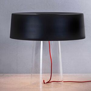 PRANDINA Prandina Glam stolní lampa 48cm čirá/černá