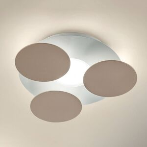 BRAGA Kulaté LED stropní svítidlo Nuvola šedohnědé