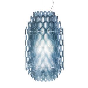 Slamp Slamp Chantal - LED závěsné světlo, 60 cm, modré