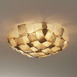 Slamp Slamp Mida stropní světlo, Ø 67 cm, zlatá/bílá
