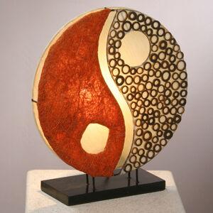 Woru Stolní lampa Ying Yang na dřevěné noze 33 cm