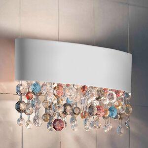 Masiero Nástěnné světlo Ola se skleněným ověsem 50 cm bílá